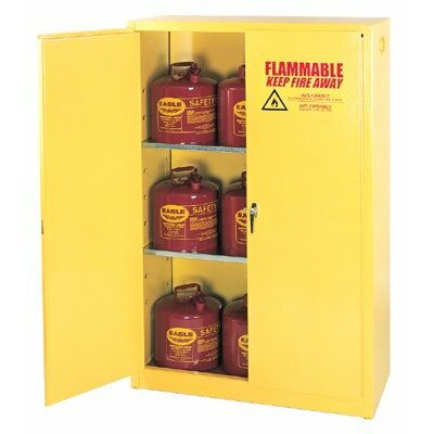 Eagle Flammable Liquid Storage - 4 Gallon Safety Storage Cabinet in Yellow