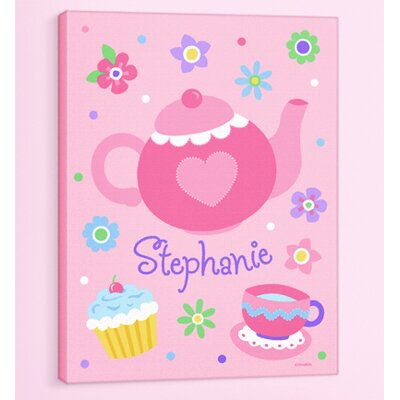 Tea Party Personalized Canvas Art