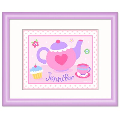 Olive Kids Tea Party Personalized Print with Lilac Frame