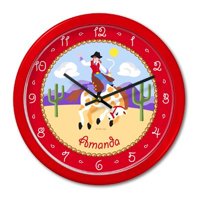 Ride 'em Girls Personalized Clock