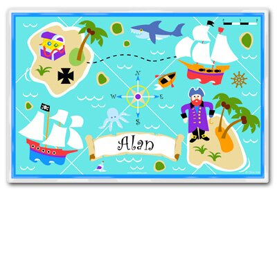 Olive Kids Pirates Personalized Placemat