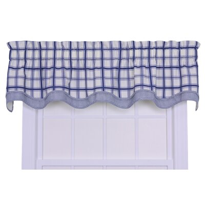 Ellis Curtain Logan Cotton Rod Pocket Large Scale Plaid Valance Window Curtain