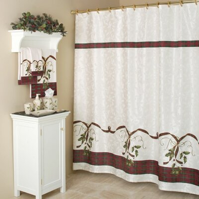 Lenox Holiday Nouveau Cotton Rod Pocket Curtain Single Panel