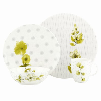 Watercolor Citrus 4 Piece Place Setting