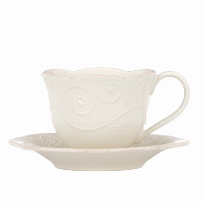 Lenox French Perle 8 oz. Cup and Saucer