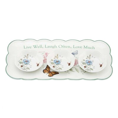 Lenox Butterfly Meadow Sentiment Hors D'oeuvres Serving Tray