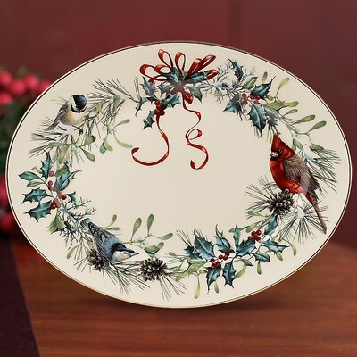 Lenox Winter Greetings Oval Platter