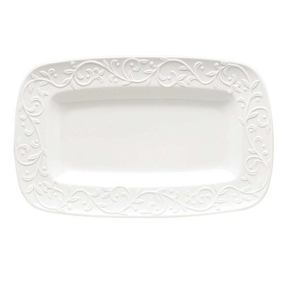 Lenox Opal Innocence Carved Hors D'oeuvres Rectangular Serving Tray
