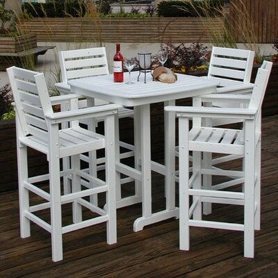 POLYWOOD® Captain 5 Piece Bar Height Dining Set