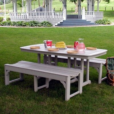 POLYWOOD® Traditional 3 Piece Picnic Dining Set