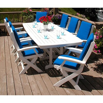 POLYWOOD® Nautical Signature 9 Piece Dining Set