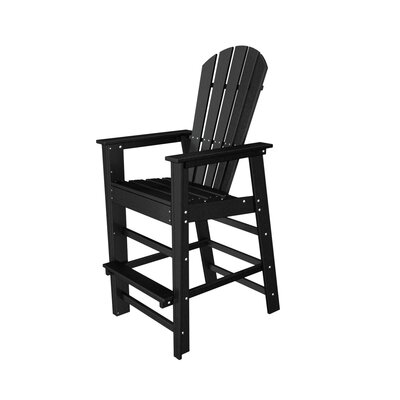 POLYWOOD® Shell Back Bar Chair