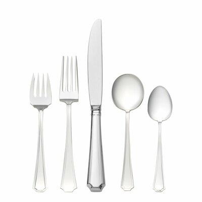 Fairfax 5 Piece Flatware Set with Cream Soup Spoon