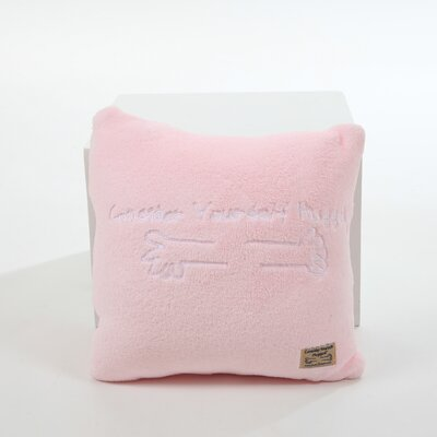 Consider Yourself Hugged Marshmallow Plush Cuddle Pillow in Bubble Gum Pink with White Hug