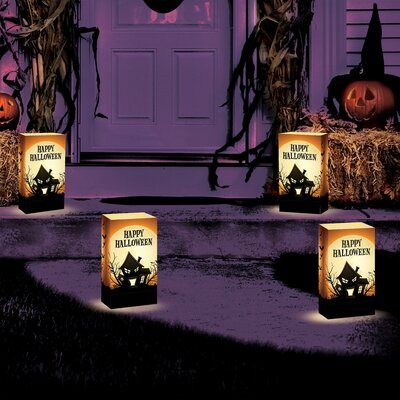 Luminarias Haunted House Luminaria Bags (Set of 24)