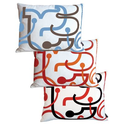 notNeutral Blue Letters Pillow