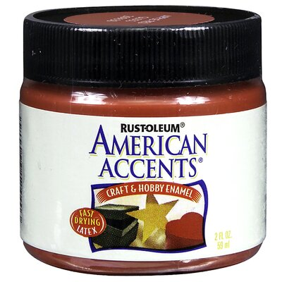 AmericanAccents American Accents® Apple Red Craft and Hobby Brush Enamel Paint
