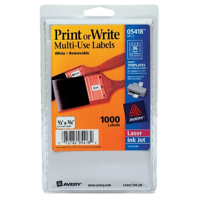 Avery Print Or Write Label