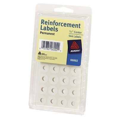 "Avery 1/4"" Reinforcement Label in White"