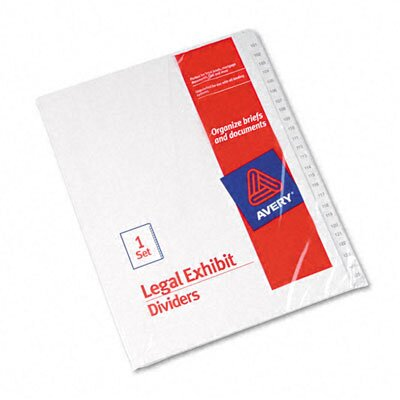 Avery Allstate-Style Legal Index Dividers in White