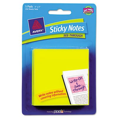 Avery See-Through Sticky Notes