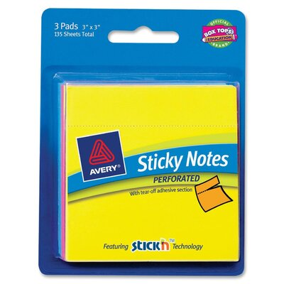 Avery Perforated Sticky Note (Set of 3)