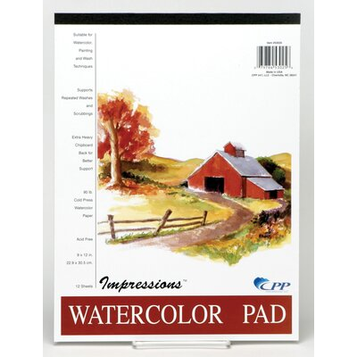 "CPPInternational 9"" x 12"" Impressions Watercolor Pad"
