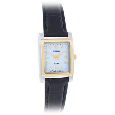 Women's Solar Watch with Leather Strap