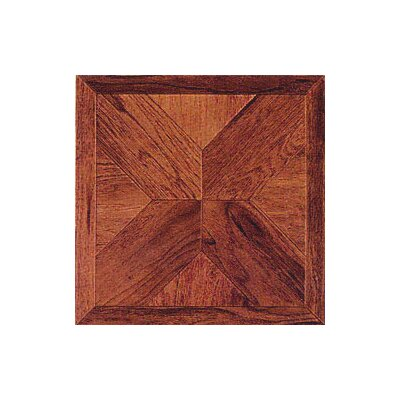 "Home Dynamix 12"" x 12"" Wood Cross Vinyl Tile in Cherry"