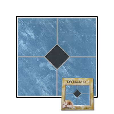 Home Dynamix Vinyl Blue Marble / Black Diamond Floor Tile (Set of 30)