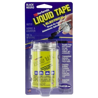 Performix 4 Oz Black Electrical Liquid Tape LT14023 4OZ