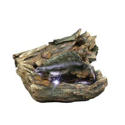 Log Fiberglass Fountain