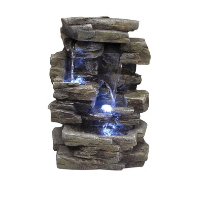 Alpine Fiberglass Slate Tabletop Fountain