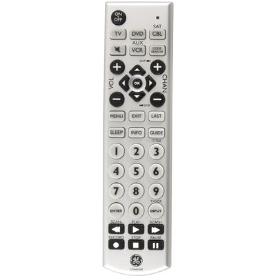 Jasco 4 Device Universal Big Button Remote Control