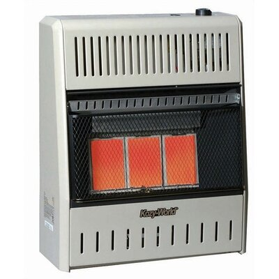 15,000 BTU Infrared Wall Propane Space Heater with Thermostat