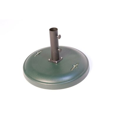 Green Corner Free Standing Round Concrete Umbrella Base