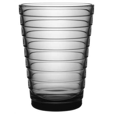 iittala Aino Aalto Set of Two 11.75 Oz. Tumblers Grey