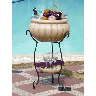 Alfresco Home Scanellato Elevated Planter & Beverage Cooler - Antique Cream