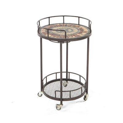 Alfresco Home Asti Mosaic Outdoor Serving Cart
