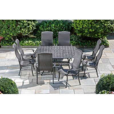 Alfresco Home Hemingway 9 Piece Square Dining Set