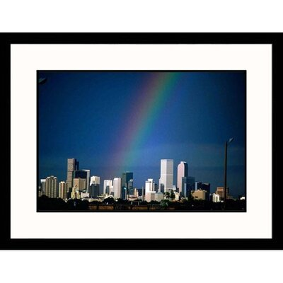 Rainbow Over Denver Skyline I Framed Photograph - Sally Brown