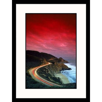Great American Picture Curved Coastal Highway Framed Photograph - Thomas Winz