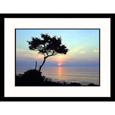 Ocean at Sunset Framed Photograph - David White