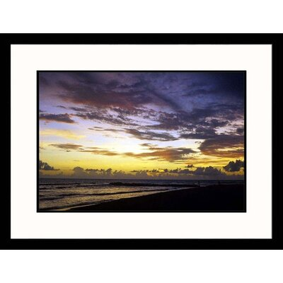 Sunset Over Ocean Framed Photograph