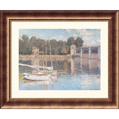 Great American Picture Bridge at Argenteuil Bronze Framed Print - Claude Monet
