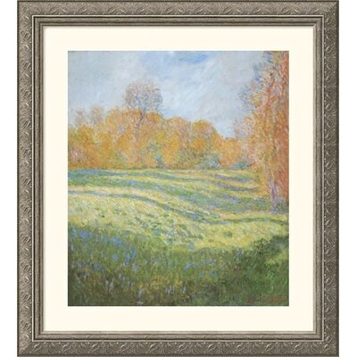 Great American Picture Meadow at Giverny Silver Framed Print - Claude Monet