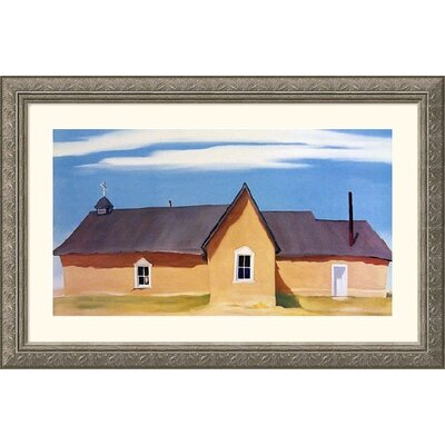 Great American Picture Cebolla Church Silver Framed Print - Georgia O'Keeffe