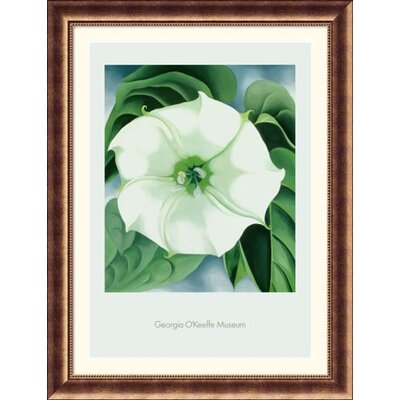 Great American Picture Jimson Weed, 1932 Bronze Framed Print - Georgia O'Keeffe