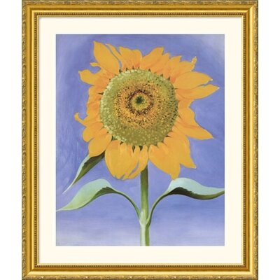 Sunflower, New Mexico, 1935 Gold Framed Print - Georgia O'Keeffe