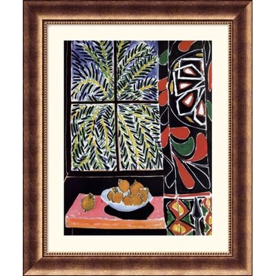 Great American Picture Interior with Egyptian Curtain Bronze Framed Print - Henri Matisse